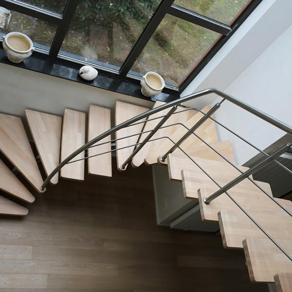 Escaliers Inox Bois