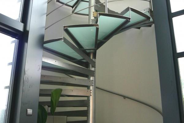 Escalier Inox colimaçon