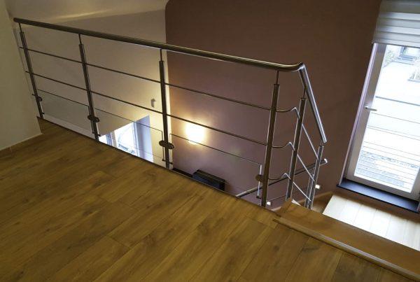 Garde-corps Inox sur escalier existant